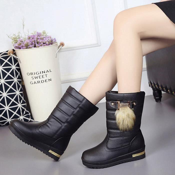 d'hiver femmes d'hiver de bottes mi pour Lafayestore®Chaussures mollet chaudes neige zf453 bottes femmes xoreCBd