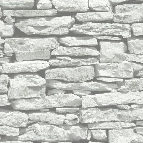 Papier Peint Pan De Mur Blanc Gris 1 Rouleau Achat Vente