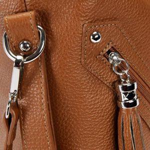 8e48f8e47c12 ... SAC À MAIN Sac à main cuir femme - Modèle Arizona cognac fonc. ‹›