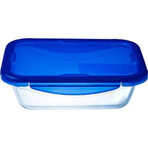 PYREX COOK&GO Plat de conservation rectangulaire 1,7l 24x18cm + Couvercle bleu