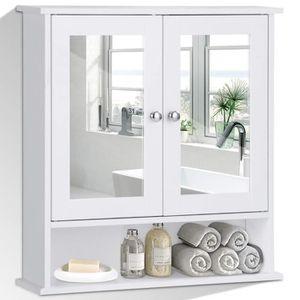 ARMOIRE DE TOILETTE Armoire de toilette armoire murale avec portes et