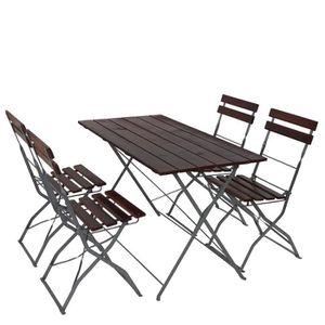 SALON DE JARDIN  Salon de jardin/brasserie 1 table 4 chaises Berlin
