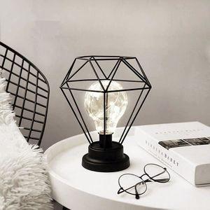 lampe de bureau piles style nordique fer lampe de chevet. Black Bedroom Furniture Sets. Home Design Ideas
