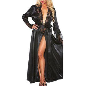 Nuisette - Déshabillé Hotskynie®Femmes Sexy Long Kimono de Soie Robe de