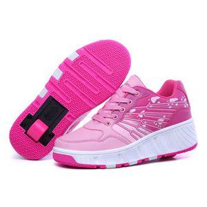 SKATESHOES Nouvel Enfant Heelys Chaussures à Roulettes avec U a85c6c32257a