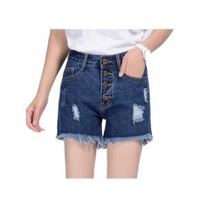 b549e1e78650a8 Short jean taille haute - Achat / Vente pas cher