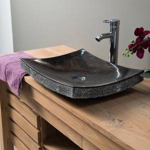 lavabo vasque vasque de salle de bain poser rectangle 50 cm