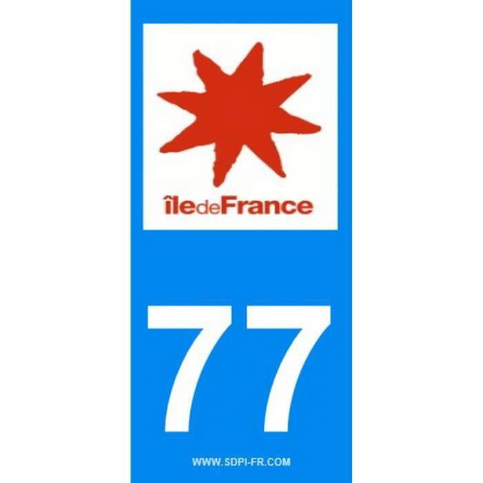 STICKZIF 2 Autocollants Région Département 77 SR77