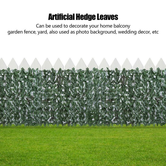 Feuilles de haie, décor de jardin artificiellefeuilles de clôture ...