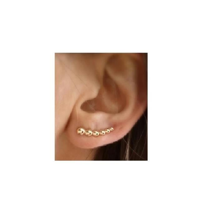 EAR CUFF, BOUCLES DOREILLES contourdemi boule,CONTOURS DE LOBES PLAQUE OR 750