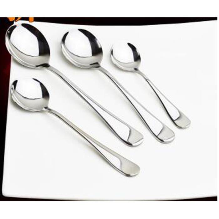 acier inoxydable set de 4 pcs cuiller à soupe poêlon cuillère ...