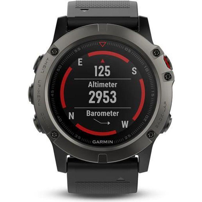 Montre connectée sport GARMIN Montre GPS Fenix 5X Sapphire - 10 ATM - Gri