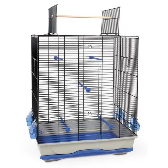 kerbl cage oiseau gabbia ambra open 56 5x36 5x74cm bleu et gris achat vente voli re. Black Bedroom Furniture Sets. Home Design Ideas