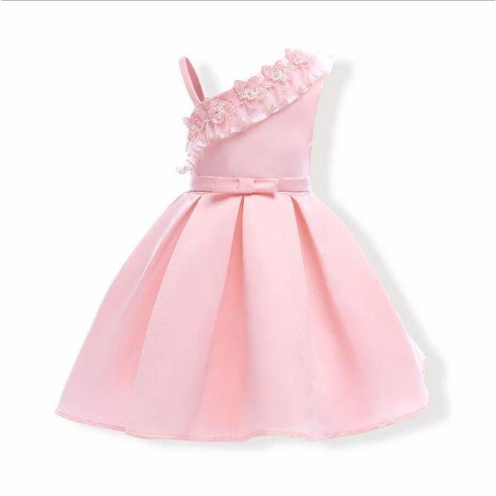 d005ae0b03eb2 Elégante Fleur Fille Robe De Mariage D été Filles Princesse Robe De Noël Enfants  Robe De Soirée Pour Fille Vêtements Enfants 2-8 ans