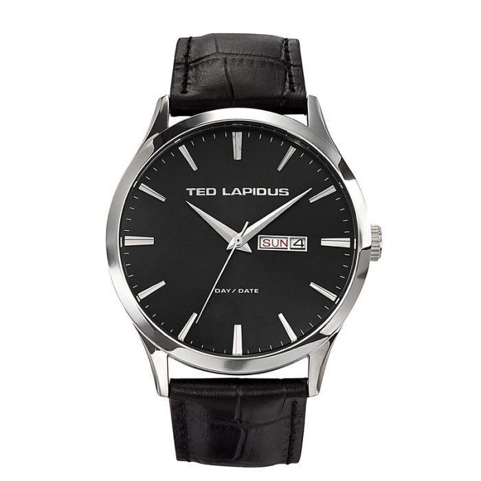 Lapidus Bracelet Ted Homme Montre NoirAchatvente Cuir lKJ3FT1c