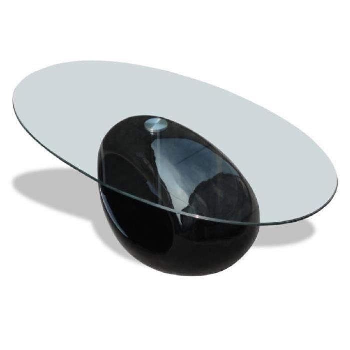Table Basse Forme Ovale De Salon Maison Intérieur En Verre Avec