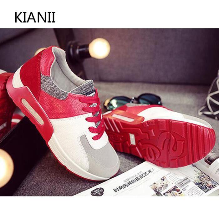 Kianii Baskets Chaussures Femme Rouge