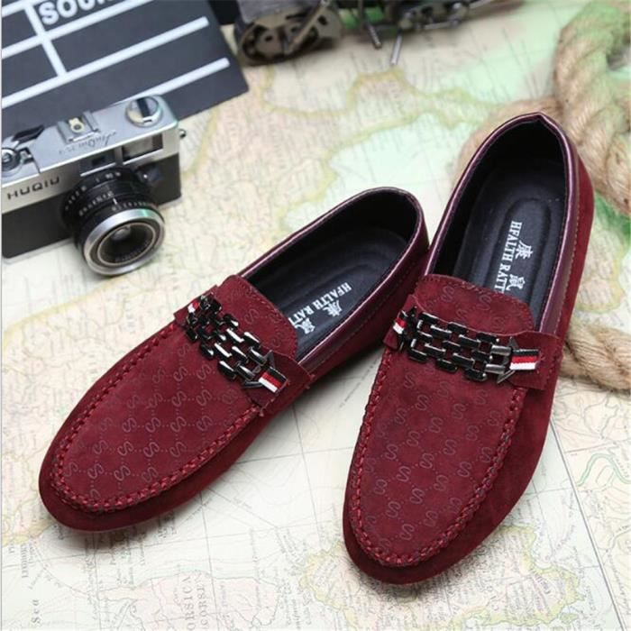 Chaussure Homme Été Printemps Nouvelle Mode Qualité Supérieure Confortable Respirant Mâle Chaussures Mocassins En Cuir Véritable gUz7E