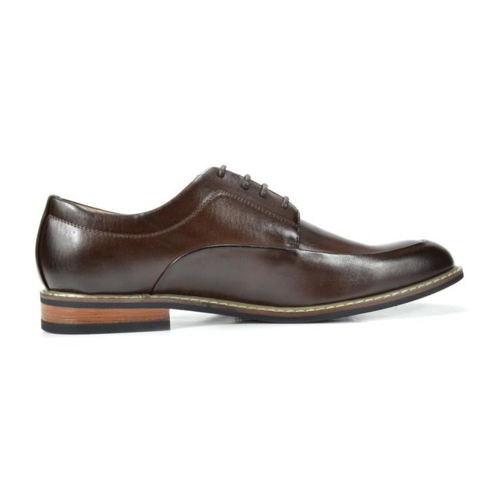 Bruno Marc Prime-1 Robe en cuir doublé Oxfords Chaussures AHFWK Taille-46 YfOVP