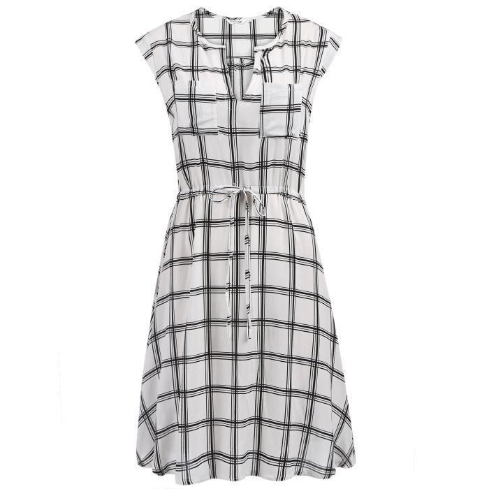 robe de femme à encolure en V