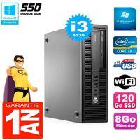 UNITÉ CENTRALE + ÉCRAN PC HP EliteDesk 800 G1 SFF Core I3-4130 8Go Disque