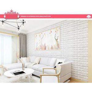 adhesif briques effet 3d achat vente pas cher. Black Bedroom Furniture Sets. Home Design Ideas