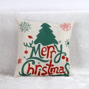 OREILLER Vintage Christmas Santa Claus Canapé-lit Home Deco