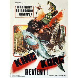 AFFICHE - POSTER KING KONG REVIENT reproduction affiche de cinéma e