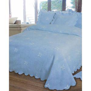couvre lit 1 personne bleu achat vente couvre lit 1. Black Bedroom Furniture Sets. Home Design Ideas