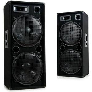 HAUT PARLEUR VOITURE Haut-parleurs 3 voies DJ-Pro 1500 paire enceintes