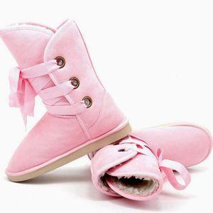 BOTTINE 5 couleurs hiver fourrure Snow Boot femmes arti...