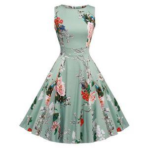 ROBE FINEJO Robe élégante Vintage Femme à motif Flor...