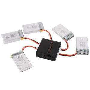 PIÈCE DÉTACHÉE DRONE XCSOURCE Chargeur USB + 5x Batterie Li-po 3,7V 25C
