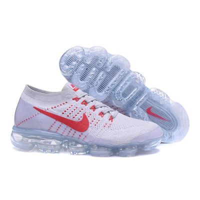 new product 7bf11 715e7 Basket Nike Air VaporMax Flyknit 849558-006 Homme Chaussures de Running  Entrainement Gris Rouge