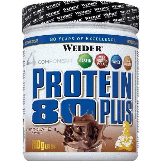 WEIDER Boîte de Protein 80+ Noisette Nougat 750g