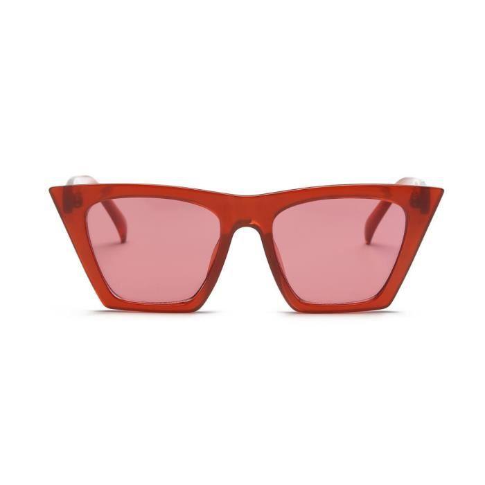 824 Lunettes Mode Cat Eye Shades Sun UV intégré Bonbons Colorés C