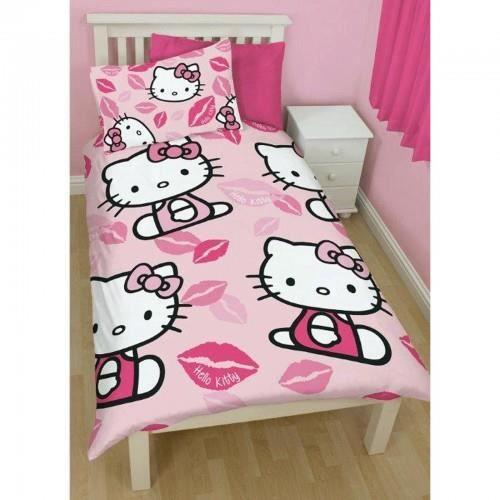 housse de couette enfant hello kitty achat vente housse de couette enfant hello kitty pas. Black Bedroom Furniture Sets. Home Design Ideas