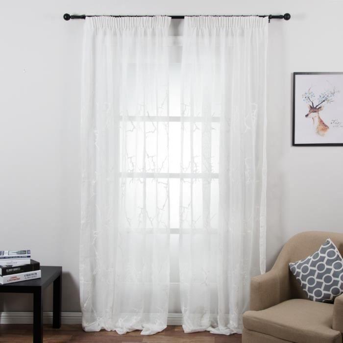 voilages chambre tomtop rideaux voilages voile tulle de porte fen tre pour modele chambre a. Black Bedroom Furniture Sets. Home Design Ideas