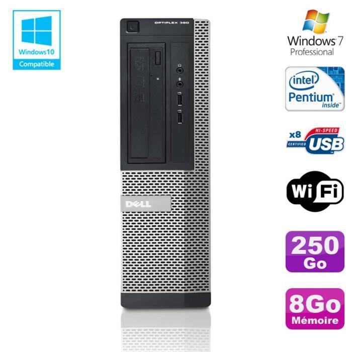 UNITÉ CENTRALE  PC DELL Optiplex 390 DT G630 2.7Ghz 8Go 250Go Grav