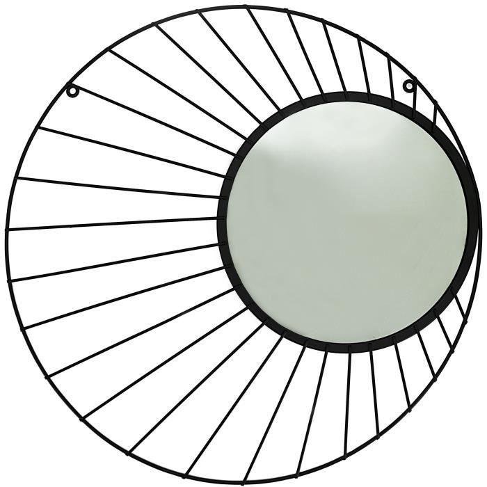 MIROIR POTIRON Miroir en verre Solare - 50 x 49 x 1 cm -
