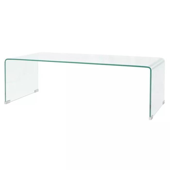 Trempé Transparent Cm 100 Basse Table Verre htsrQd