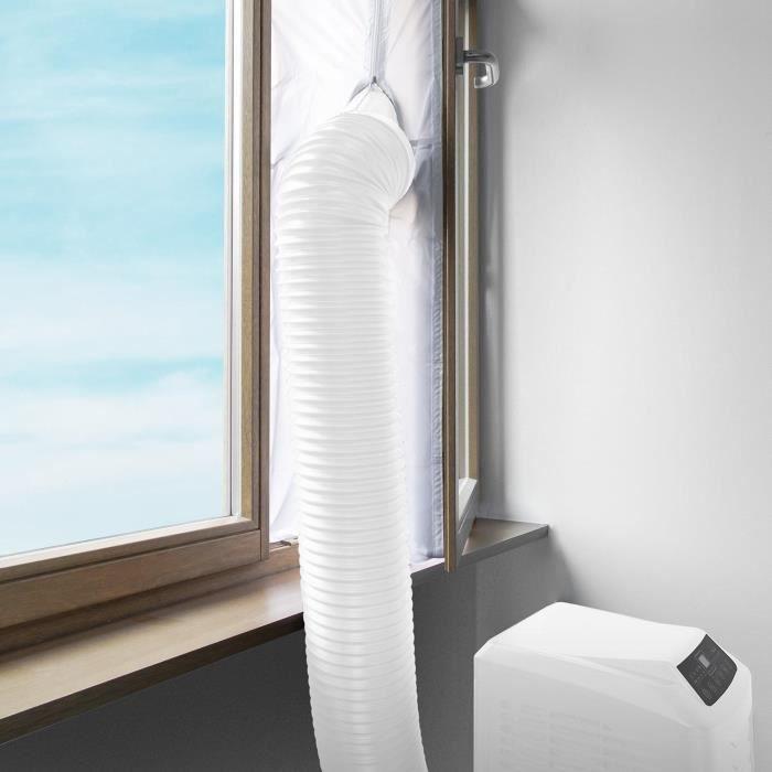 klarstein calfeutrage de fen tre pour climatiseur mobile tuyau d 39 evacuation 4m de longueur. Black Bedroom Furniture Sets. Home Design Ideas