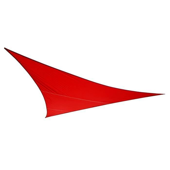 Voile d\'Ombrage Rouge Triangle 3,6m - Imperméable - 160g/m2 - Achat ...