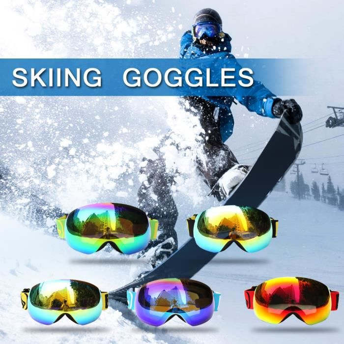 a3dd9834fbb299 LUNETTES DE MONTAGNE SNOW-4504 Lunettes de ski d hiver Protection UV400