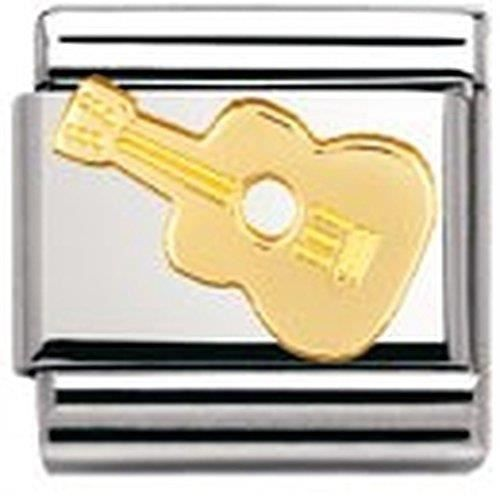 Nomination Womens Composable Classic Music Guitar Stainless Steel And 18k Gold 1SM77S