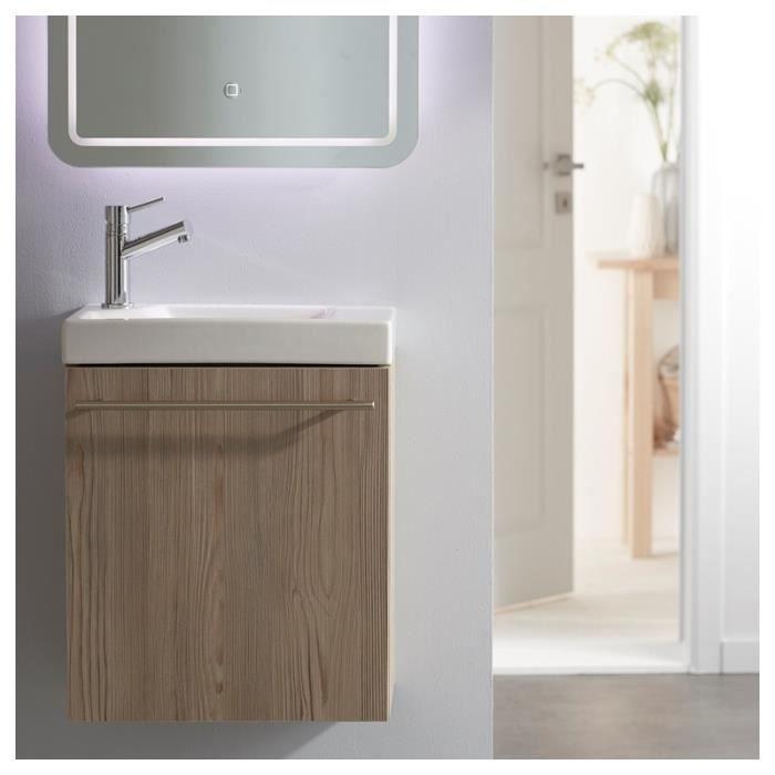 LAVE-MAIN Meuble lave-mains complet couleur chêne Oak bordol