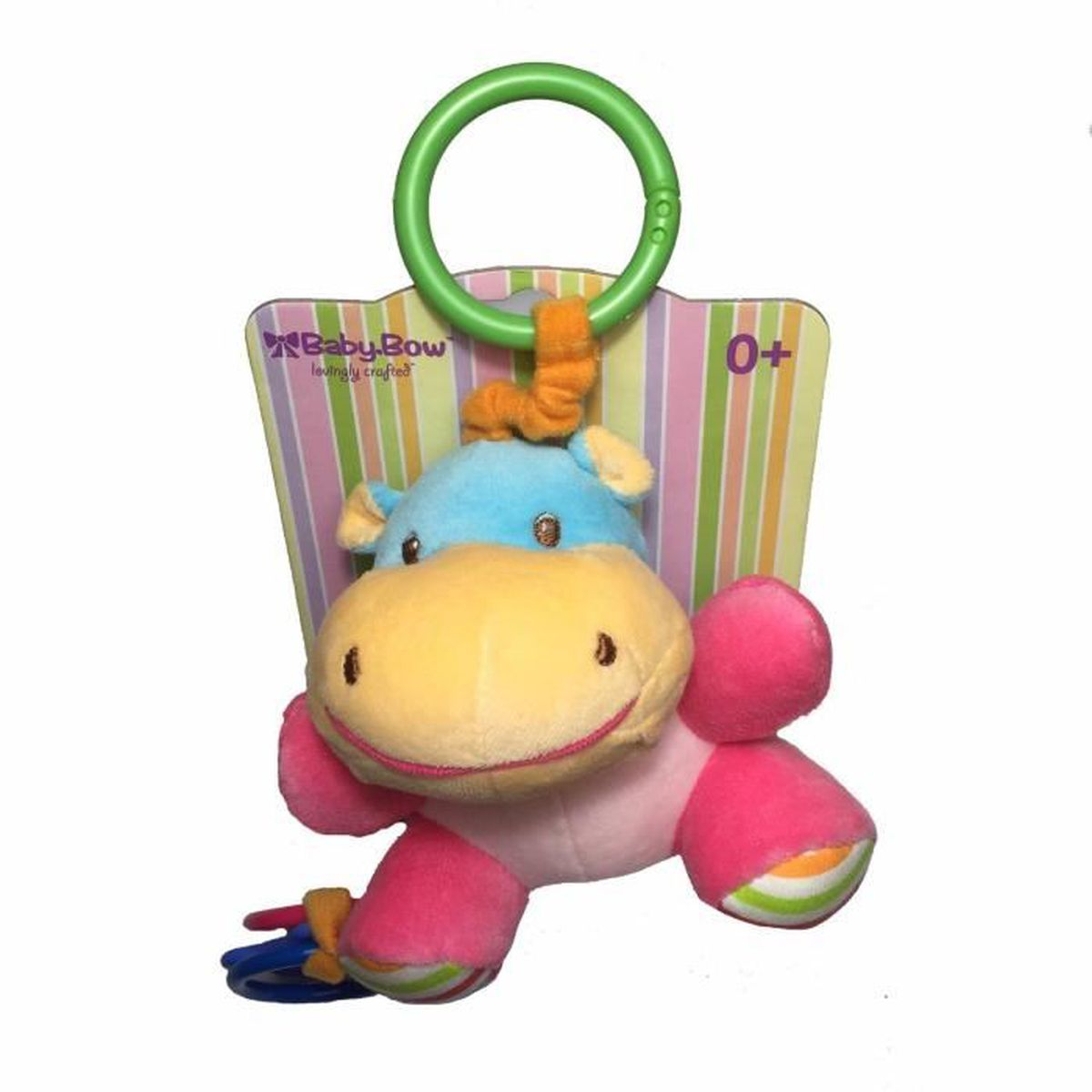 mascotte hochets à accrocher doudou peluche hippopotame 15 cm cadeau