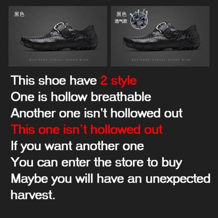 chaussure multisport pour Hommemarron 8.5 Conduite oisif Chaussures confortables Chaussures d'affaires simple d'homme _3071