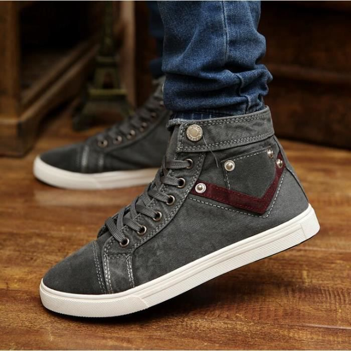 chaussures montantes Mode Chaussure Homme Basket Homme Skate Shoes RA5fqNNPU