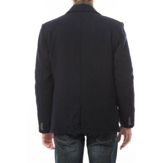 Caban Cortina Pepe Jeans Marine Bleu - Achat   Vente manteau - caban -  Soldes  dès le 9 janvier ! Cdiscount c12da5ab3c33